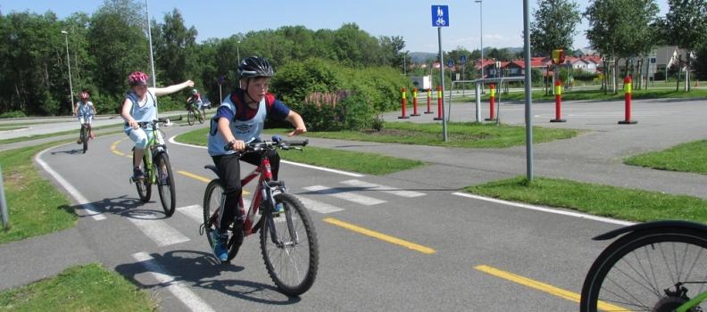 C-klassen på sykkelgården i Sandnes